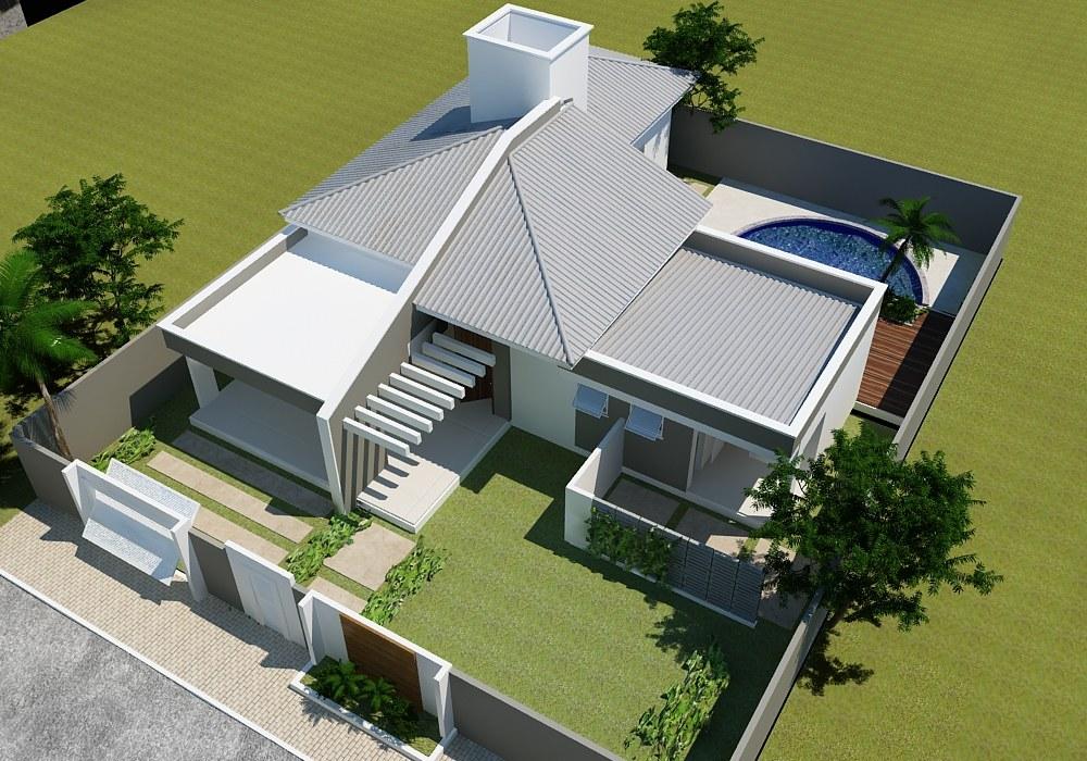 thiết kế biệt thự 1 tầng hiện đại