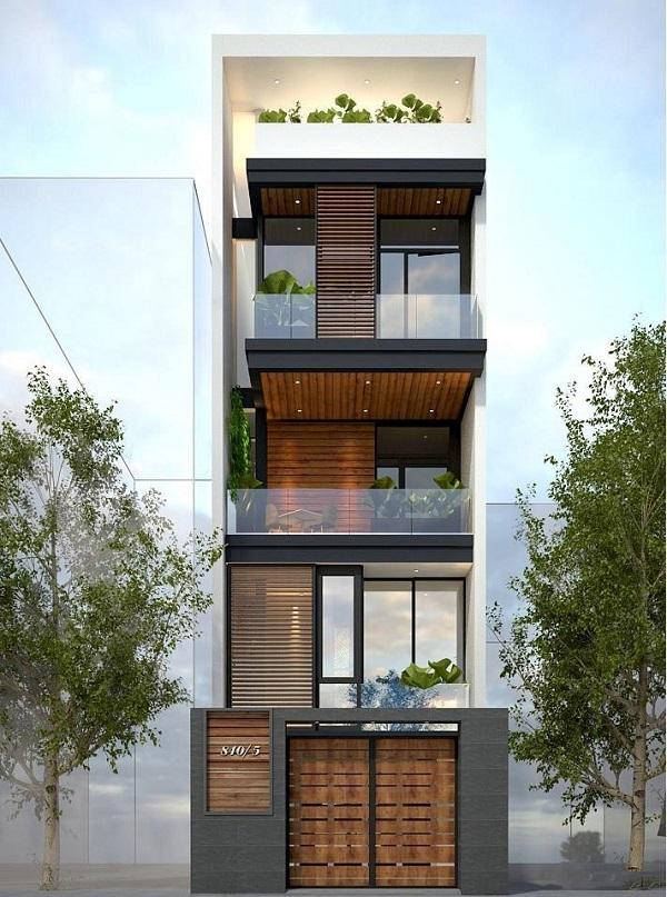 nhà 4 tầng 1 tum