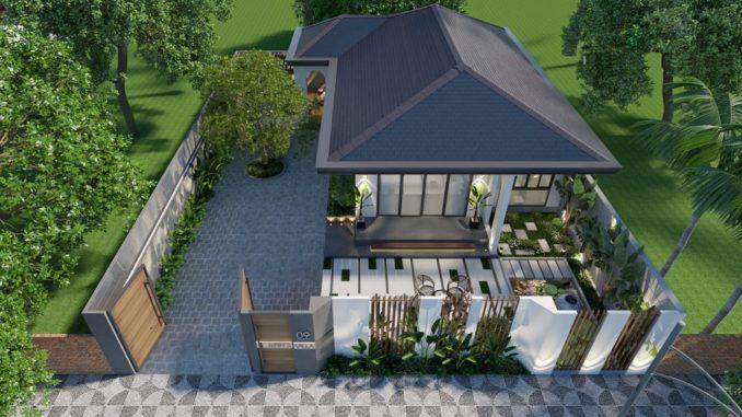 thiết kế biệt thự nhà vườn 1 tầng