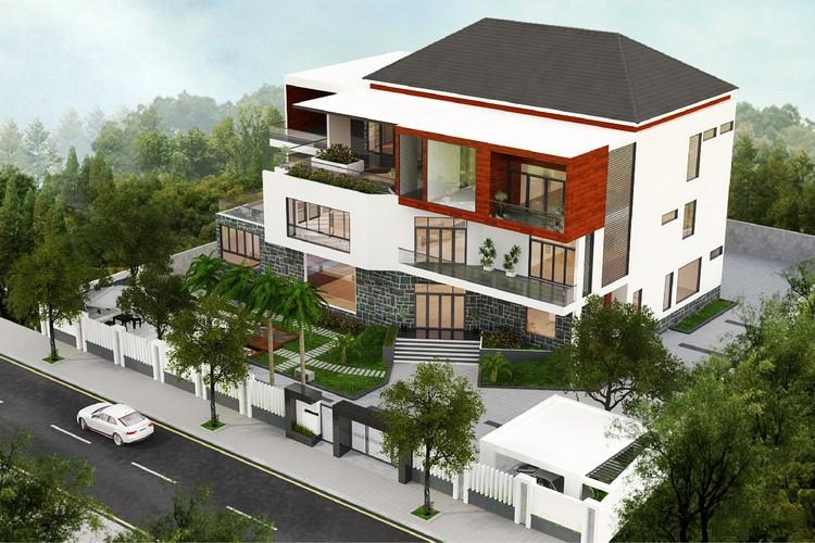 thiết kế biệt thự nhà vườn 3 tầng