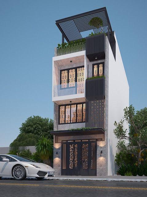 thiết kế nhà 4 tầng phong cách hiện đại